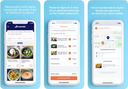 Capture d'écran Foodchéri iOS