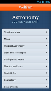 Capture d'écran Astronomy Course Assistant