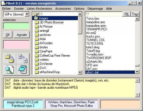Capture d'écran Filext