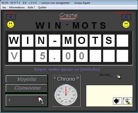 Capture d'écran WIN-MOTS DE LUXE