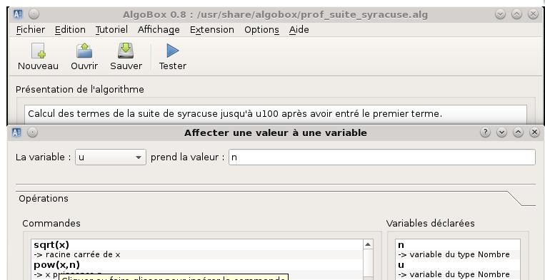 Capture d'écran Algobox Mac