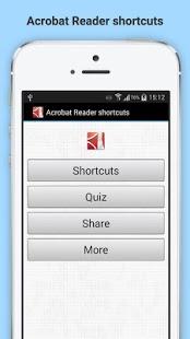 Capture d'écran Free Acrobat reader shortcuts