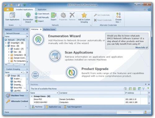 Capture d'écran EMCO Network Software Scanner
