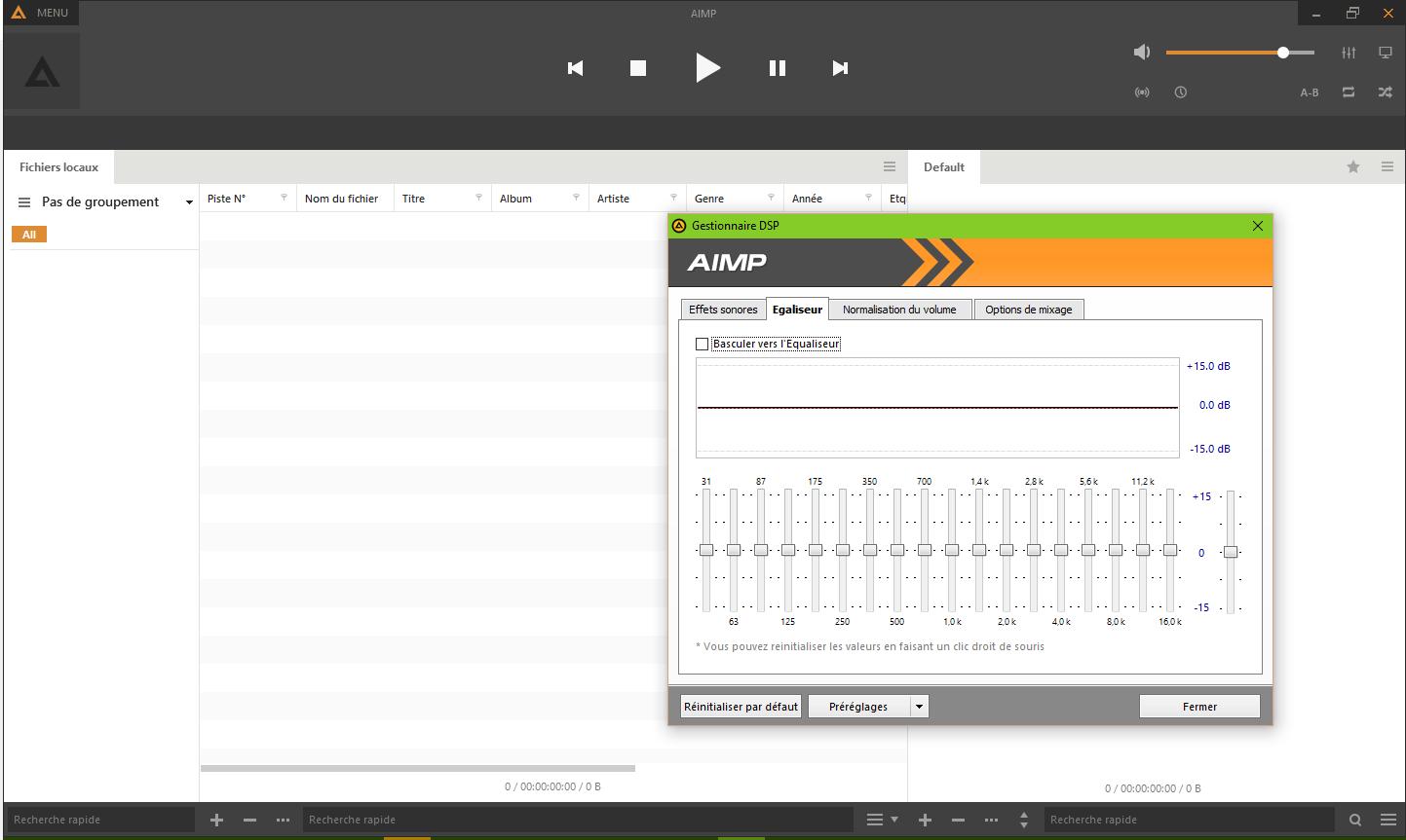 Capture d'écran AIMP