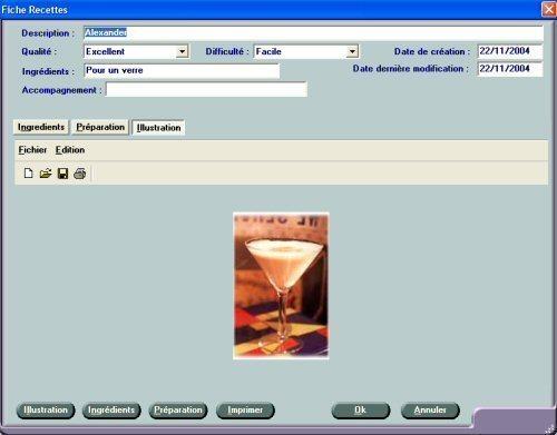 Capture d'écran Recueil de Cocktails