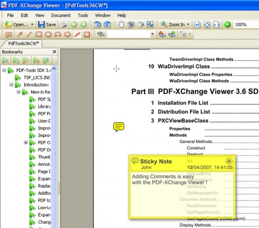 Capture d'écran PDF-XChange Viewer Portable