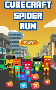 Capture d'écran CubeCraft Spider Run
