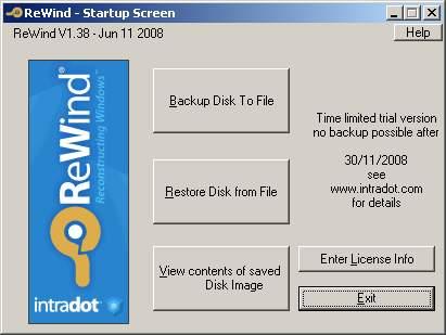 Capture d'écran ReWind