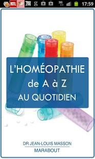 Capture d'écran L'Homéopathie de A à Z