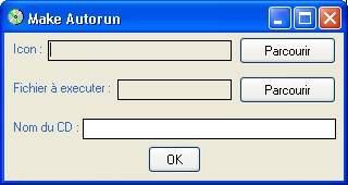 Capture d'écran Make Autorun