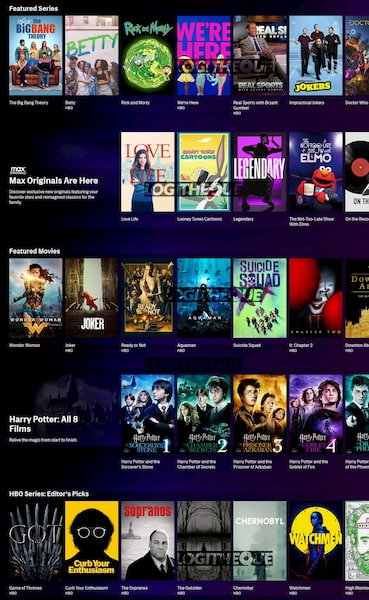 HBO max Home