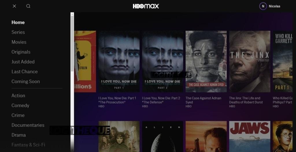 HBO menu