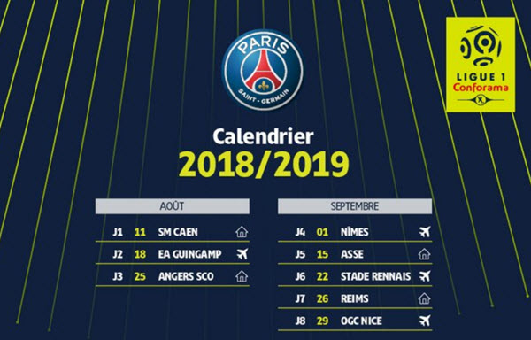 Calendario Ligue.2018 2019 Sports Calendars For Football Fans And Others