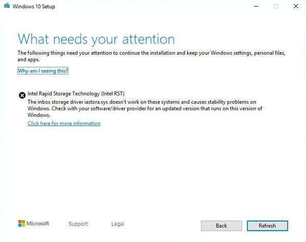 Intel-Treiber blockieren Windows 10 1903 Update