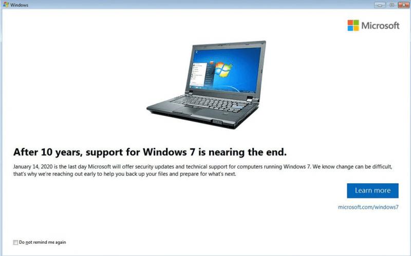 WINDOWS 7 VOUS PRÉVIENT QU'IL EST TEMPS DE L'ABANDONNER After-10-years-windows-7-support-end