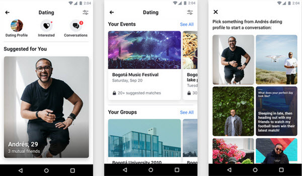 Facebook Dating starts its testing phase today