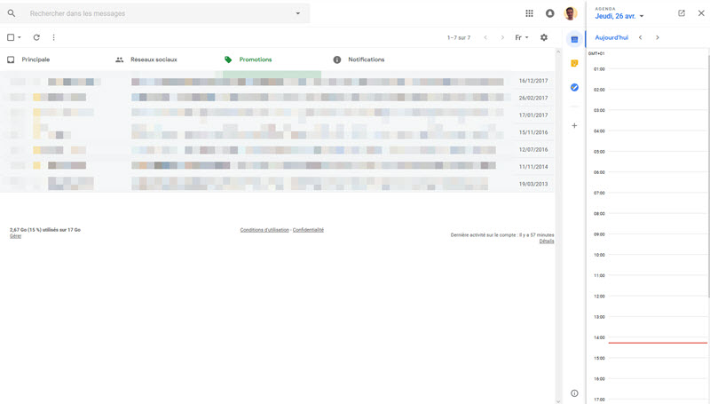 Gmail Calendrier