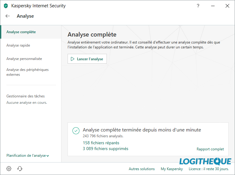 Analyse kaspersky Internet Security