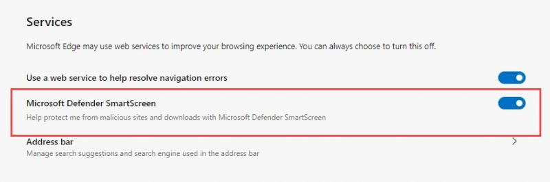 WINDOWS DEFENDER DEVIENT MICROSOFT DEFENDER Microsoft-Defender-SmartScreen-Setting-in-Chromium-Edge-browser