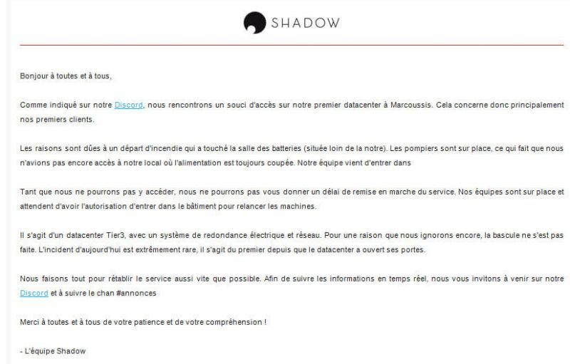 mail incendie shadow marcoussis