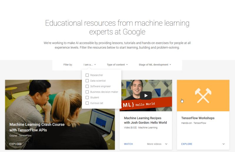 Learn with Google AI