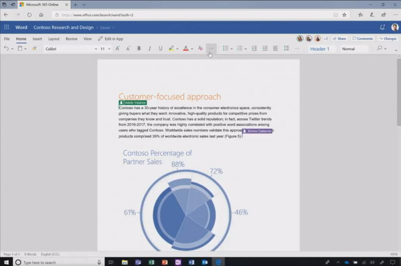 office 2019 word 365 online