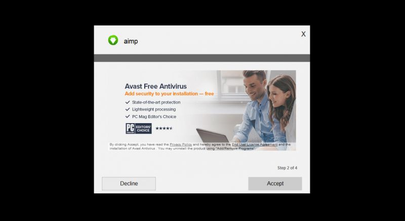 Offre avast adware