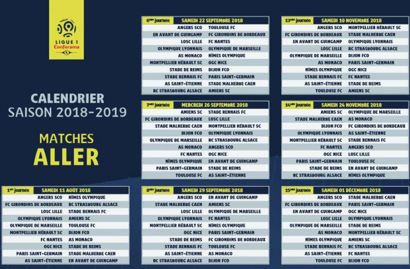 Calendrier L1 Psg.Reprise Ligue 1 Le Calendrier Et Applis A Avoir Le Jour J