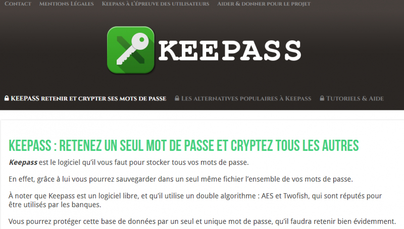 Keepass Fake site