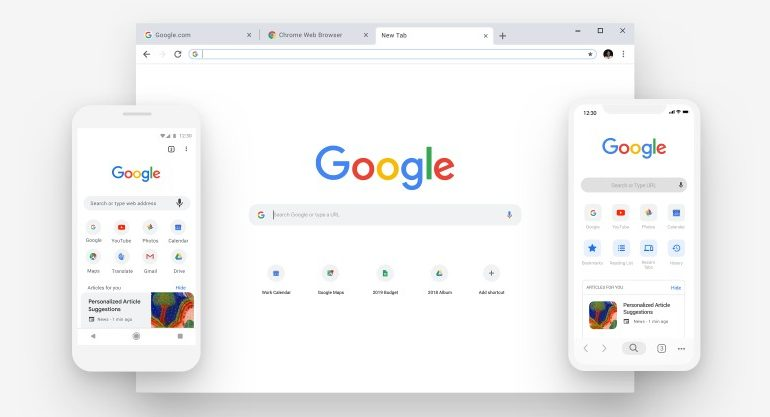 Nouvelle interface Chrome 69