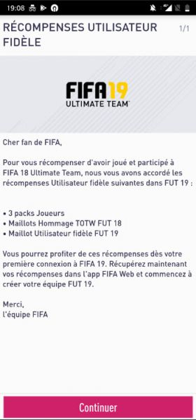 FIFA 19 Ultimate team companion app