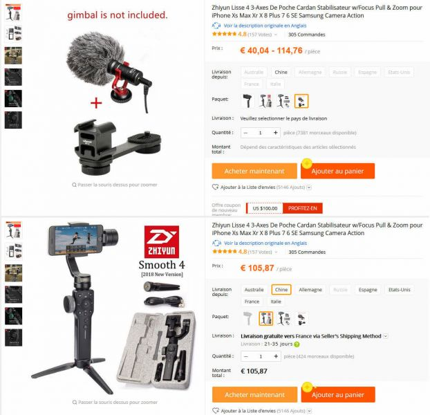 Aliexpress Gimbal