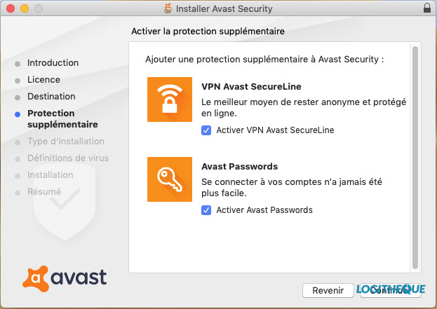 Avast Mac installation