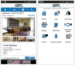 Les applications pour trouver un appartement facilement - Application logic immo ...