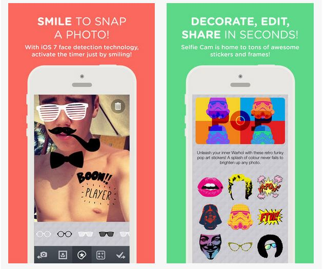 Quelle application de selfie installer sur son smartphone ?