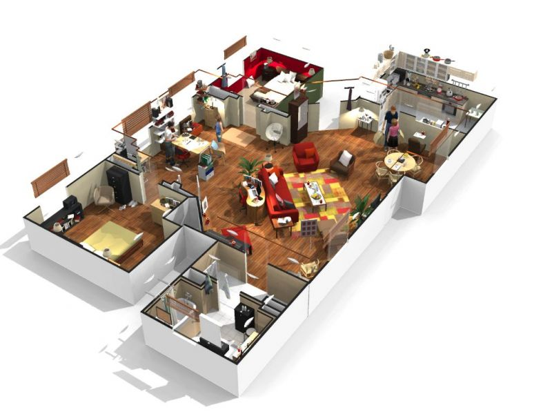 plan appartement 3d