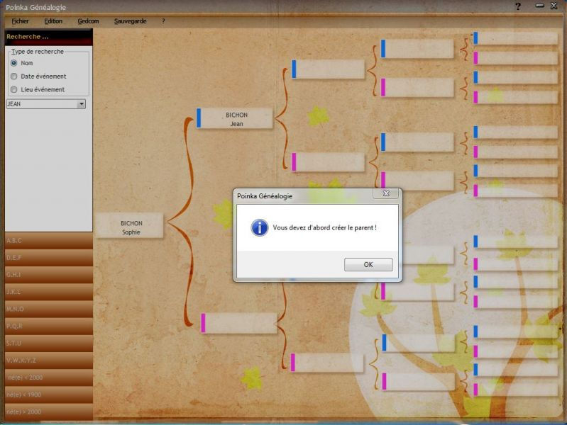 test logiciel de g u00e9n u00e9alogie  poinka ma g u00e9n u00e9alogie