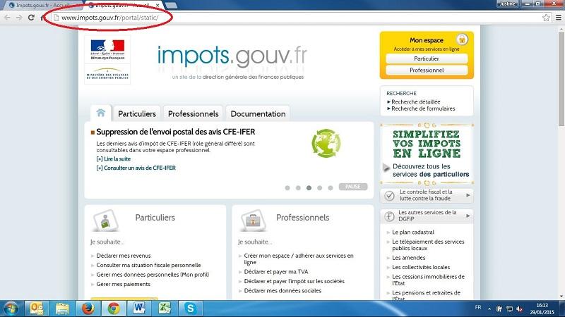 Impots Gouv Fr Mon Compte Le Site Des Impots Utilise Pour Une