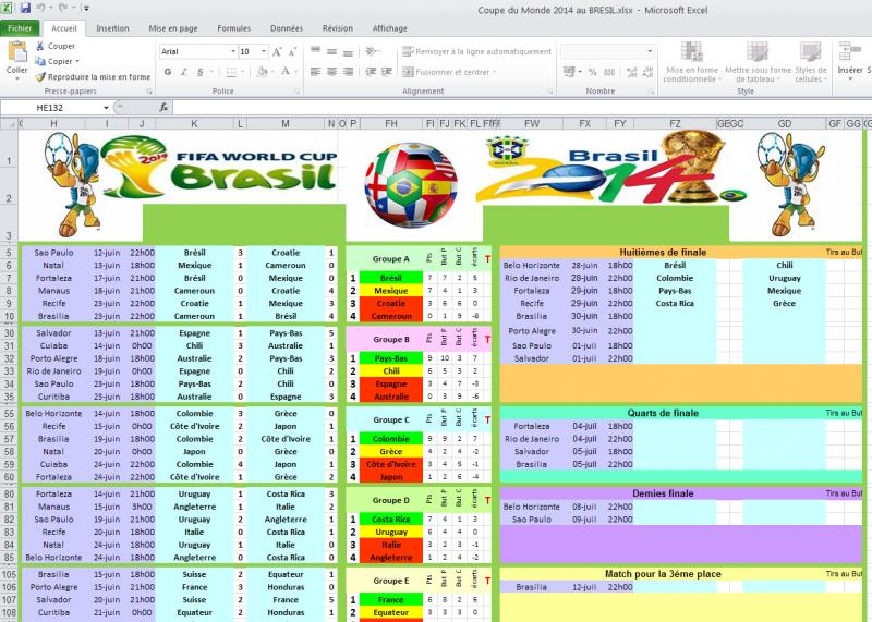 Calendrier Coupe Du Monde 2020 Excel
