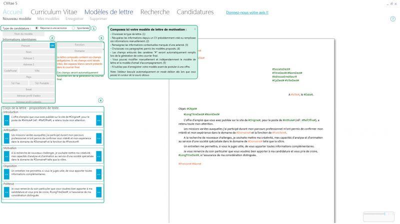 j u0026 39 ai test u00e9 pour vous cvitae  le logiciel de cr u00e9ation de cv et de lettre de motivation