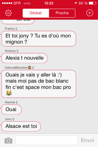 Discussion entre ados - chaatfr