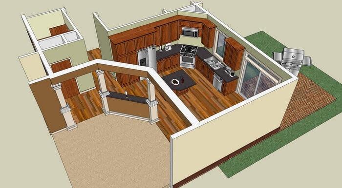 Quel logiciel d architecture gratuit pour le plan de sa for Sketchup plan maison