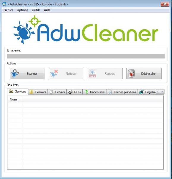 programme d'installation avancé téléchargé les fichiers de programme