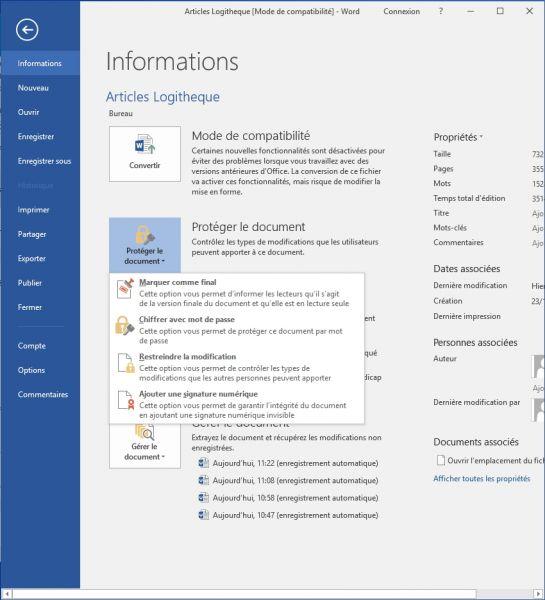 les astuces pour prot u00e9ger un document microsoft word