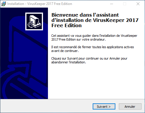 Free antivirus test 2017: VirusKeeper Free Edition 2017