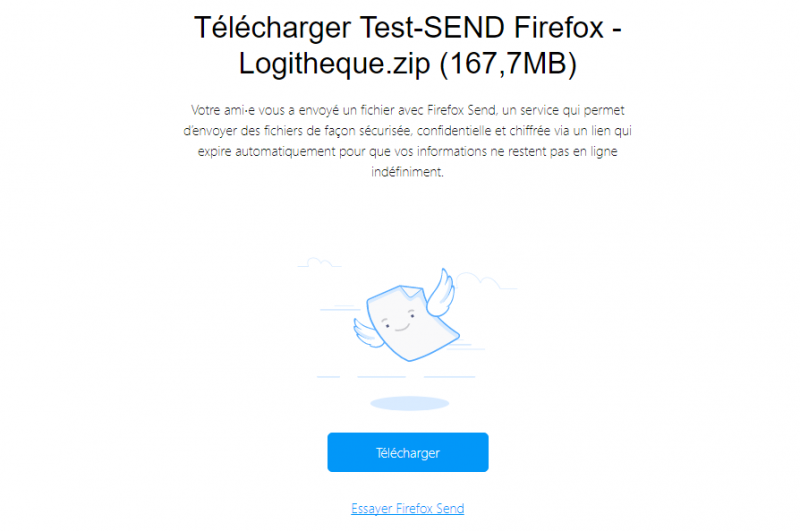 Firefox Send : It is possible to share files from Firefox