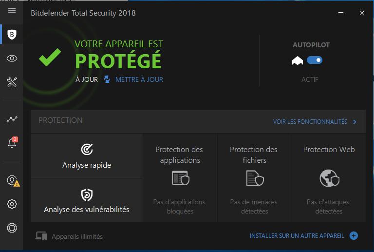 test antivirus bitdefender total security 2018. Black Bedroom Furniture Sets. Home Design Ideas