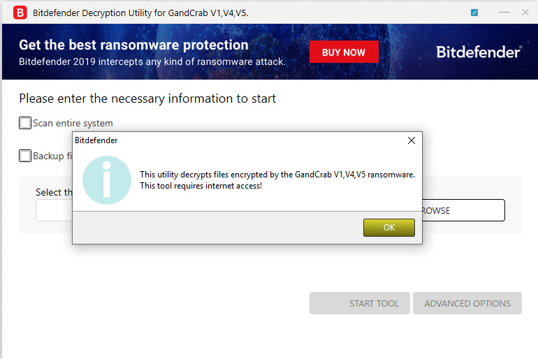 BD Decryption Tool GandCrab