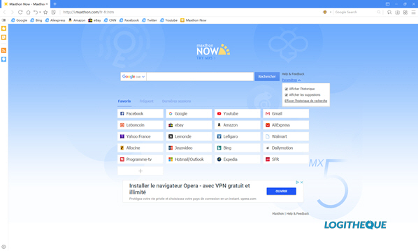 Maxthon interface
