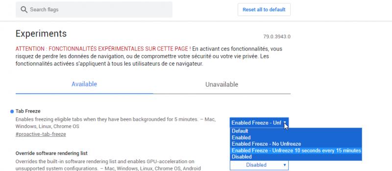 GOOGLE TESTE UNE MEILLEURE GESTION DE LA RAM POUR CHROME 2019-10-16%2011_37_01-Window